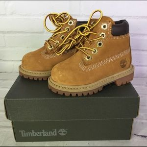 Timberland Toddler Boys Girls Size 4 Boots Wheat